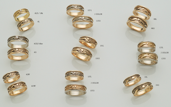 Nature Rings by David Virtue Jewerly