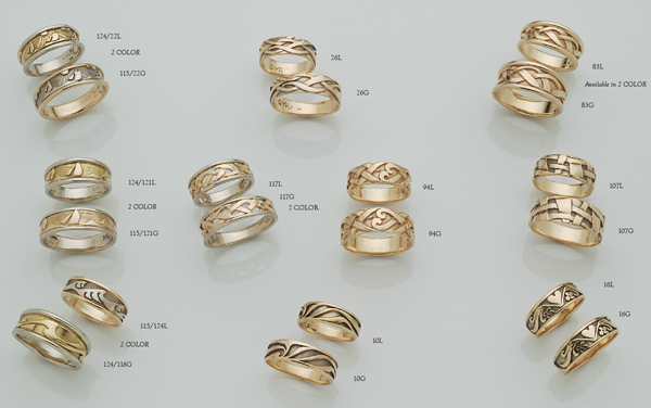 Fish Rings by David Virtue Jewelry