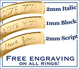 Custom Engraving by David Virtue Jewelry